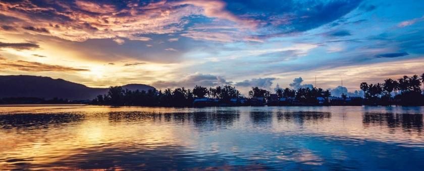 afterglow beautiful clouds dawn